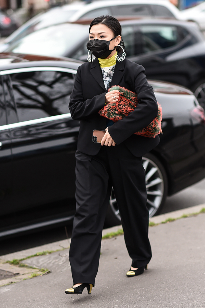 Face Mask Looks Street Style Fashion Week 2020