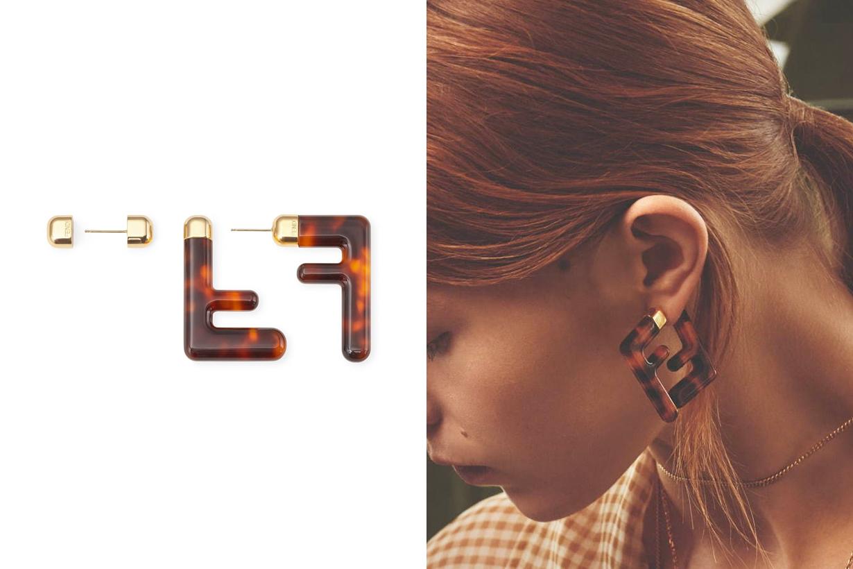 fendi motif logo earring 2020 ss accessories