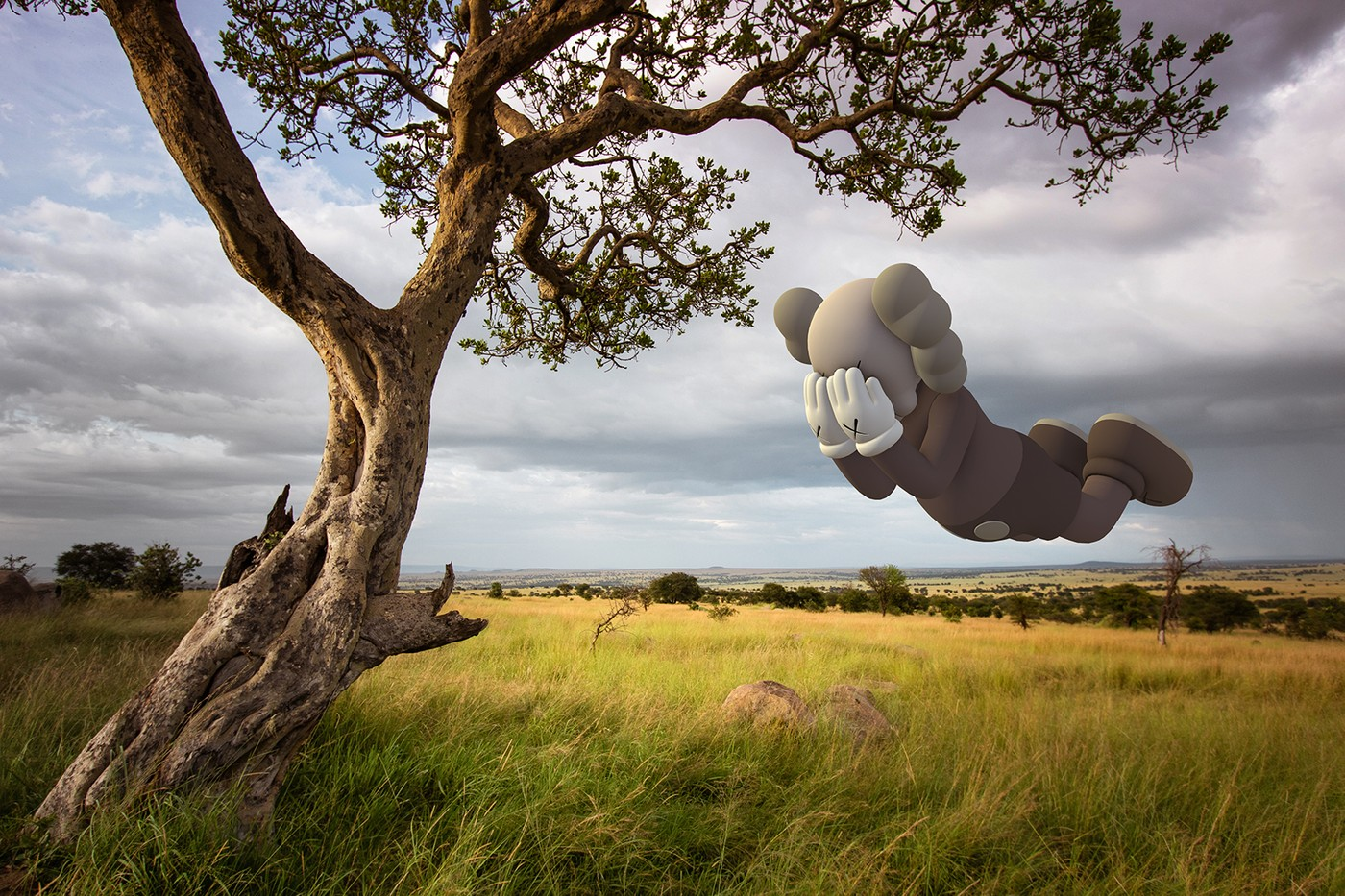 kaws companion sculpture acute art app collaboration expanded holiday augmented reality exhibition Brian donnelly