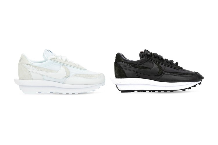 sacai x Nike LDV Waffle White Black Nylon Release