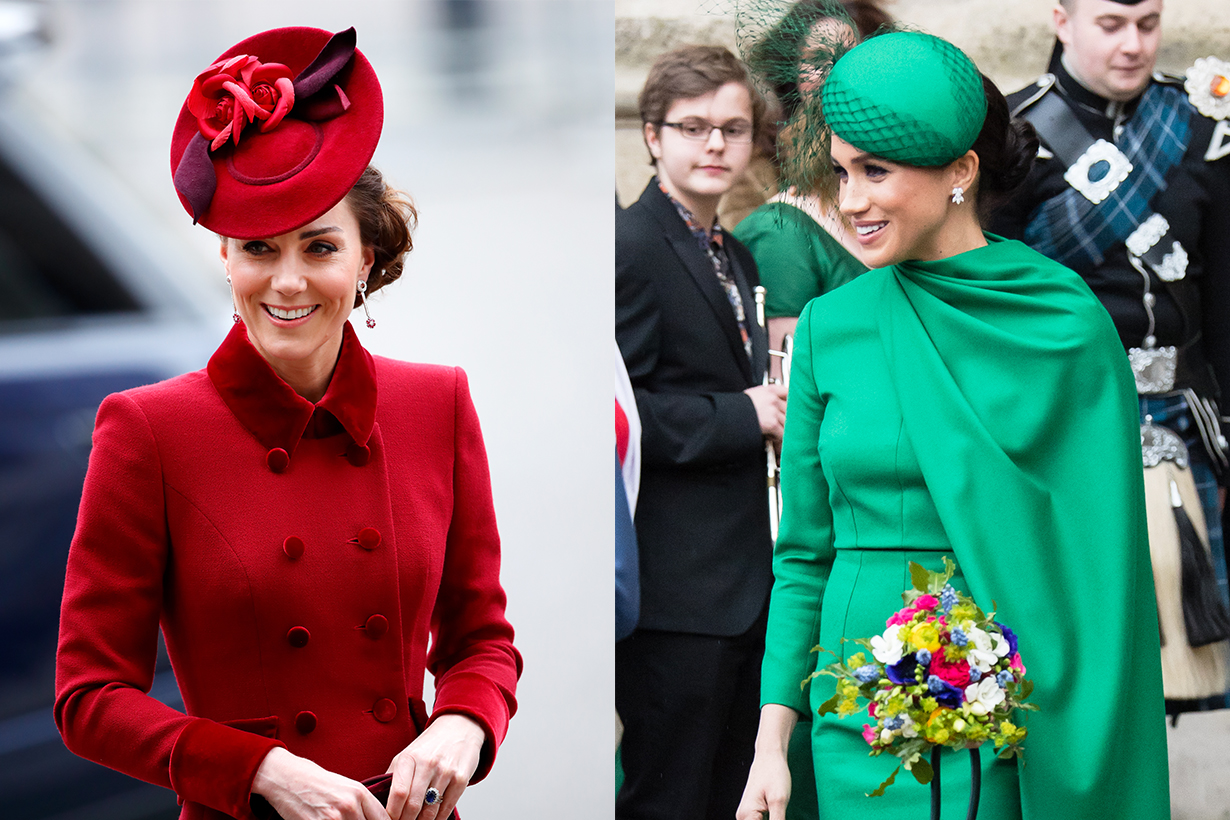 Kate Middleton Duchess of Cambridge Meghan Markle Duchess of Sussex Prince William Prince Harry Queen Elizabeth II  Commonwealth Day services at Westminster Abbey 2020 Last royal service British Royal Family