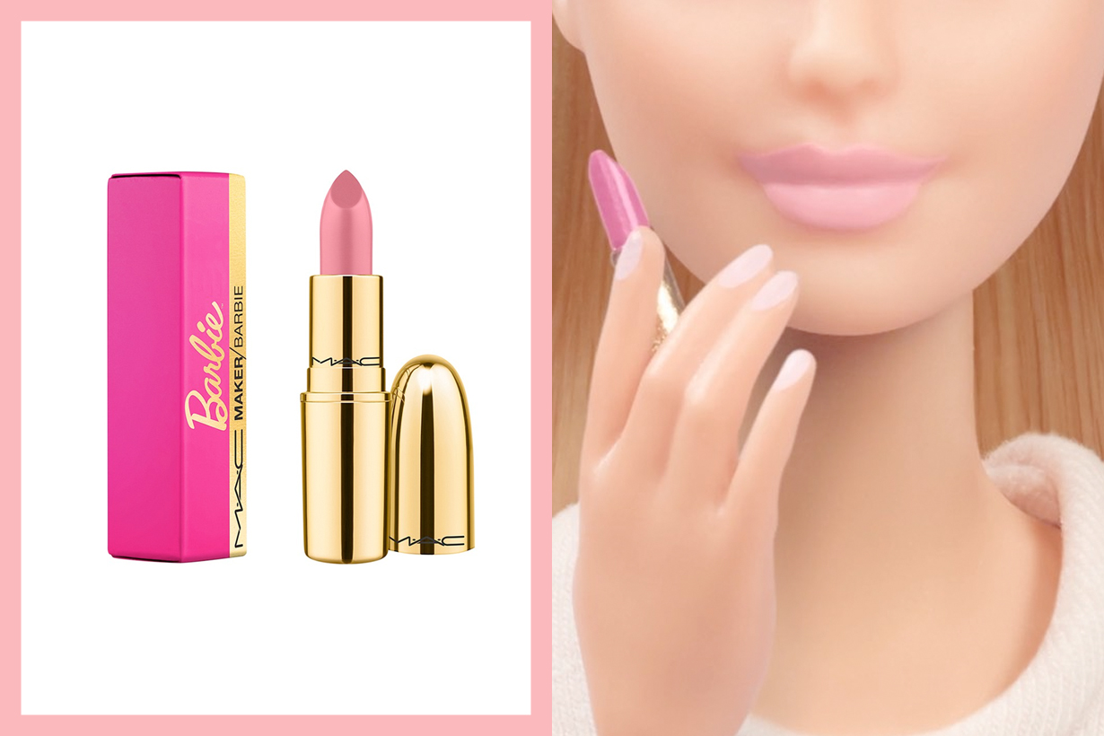 m.a.c cosmetic barbie pink lipsticks collabration 2020