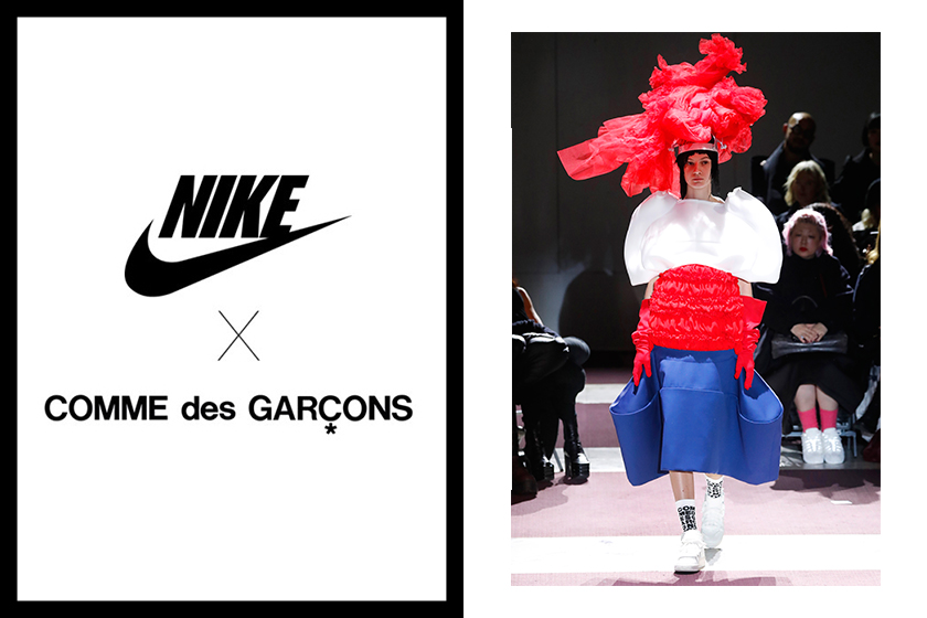 pfw comme des garcons nike air force 1 mid