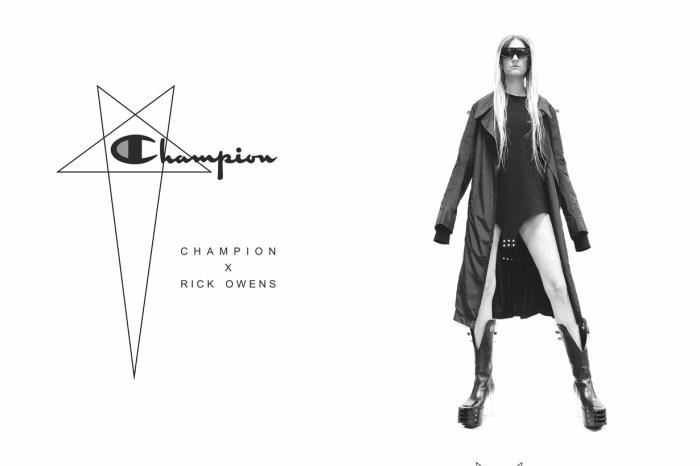 當暗黑極簡設計遇上 Champion,這個聯乘可是好入手 Rick Owens 設計的機會!
