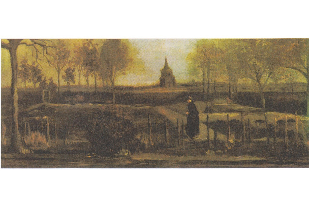 Vincent van Gogh singer laren museum painting The Parsonage Garden stolen price