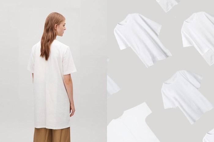 藏著簡約質感細節:COS 推出純白 T-Shirt 系列,令北歐極簡控一見鍾情!