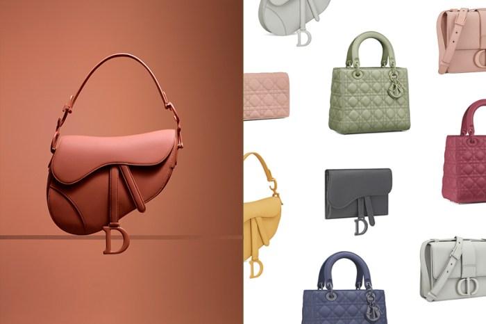 優雅的霧彩色調:Dior 將人氣手袋們換上了高質感霧面皮革!