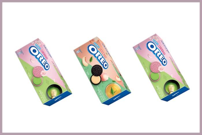 人氣零食 Oreo 為春夏推出「櫻花抹茶」與「白桃烏龍」期間限定口味!