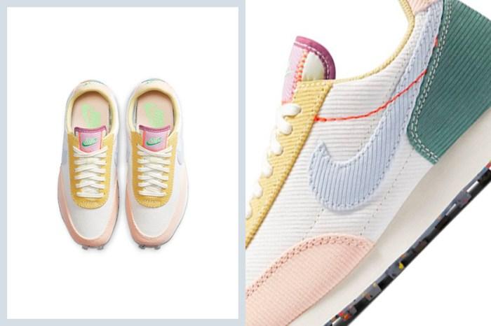 細節滿分:Nike 以療癒的粉嫩色系燈芯絨拼接成 Daybreak 新配色!
