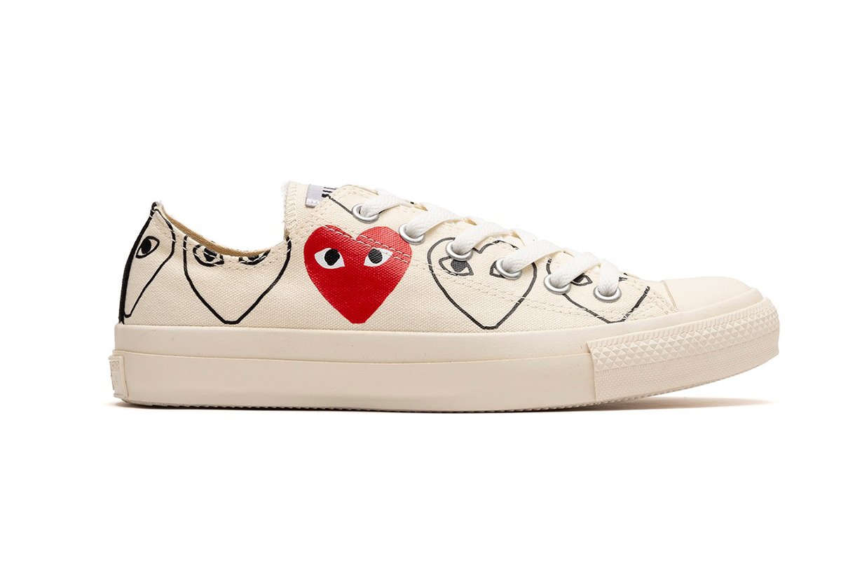 A NEW COMME DES GARÇONS PLAY X CONVERSE CHUCK 70 PACK IS RELEASING