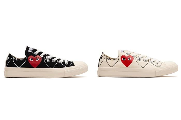 看到愛心圖案已想掏出錢包!COMME des GARÇONS PLAY X Converse 最新鞋款快開售
