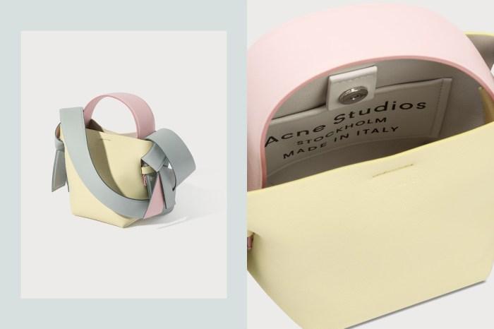 Acne Studios 這個人氣袋款,換上馬卡龍粉色也太適合甜美的春夏!