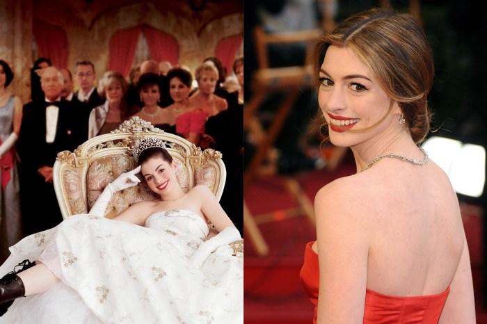 Anne Hathaway 玩 #PillowChallenge 獲 200 萬讚好,重現 2001 年的公主造型!