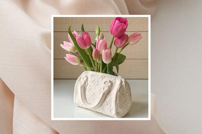 奢侈居家佈置:僅限量 10 個,這一款 Louis Vuitton 復古純白手袋是花瓶?