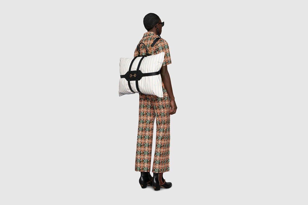 gucci spring summer 2020 backpack pillow holder release accessories