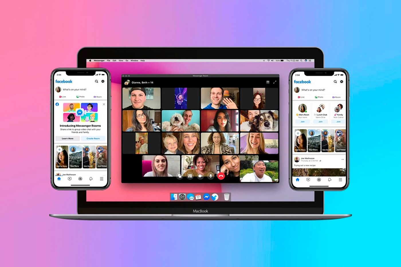 Facebook Messenger New Rooms video chat call