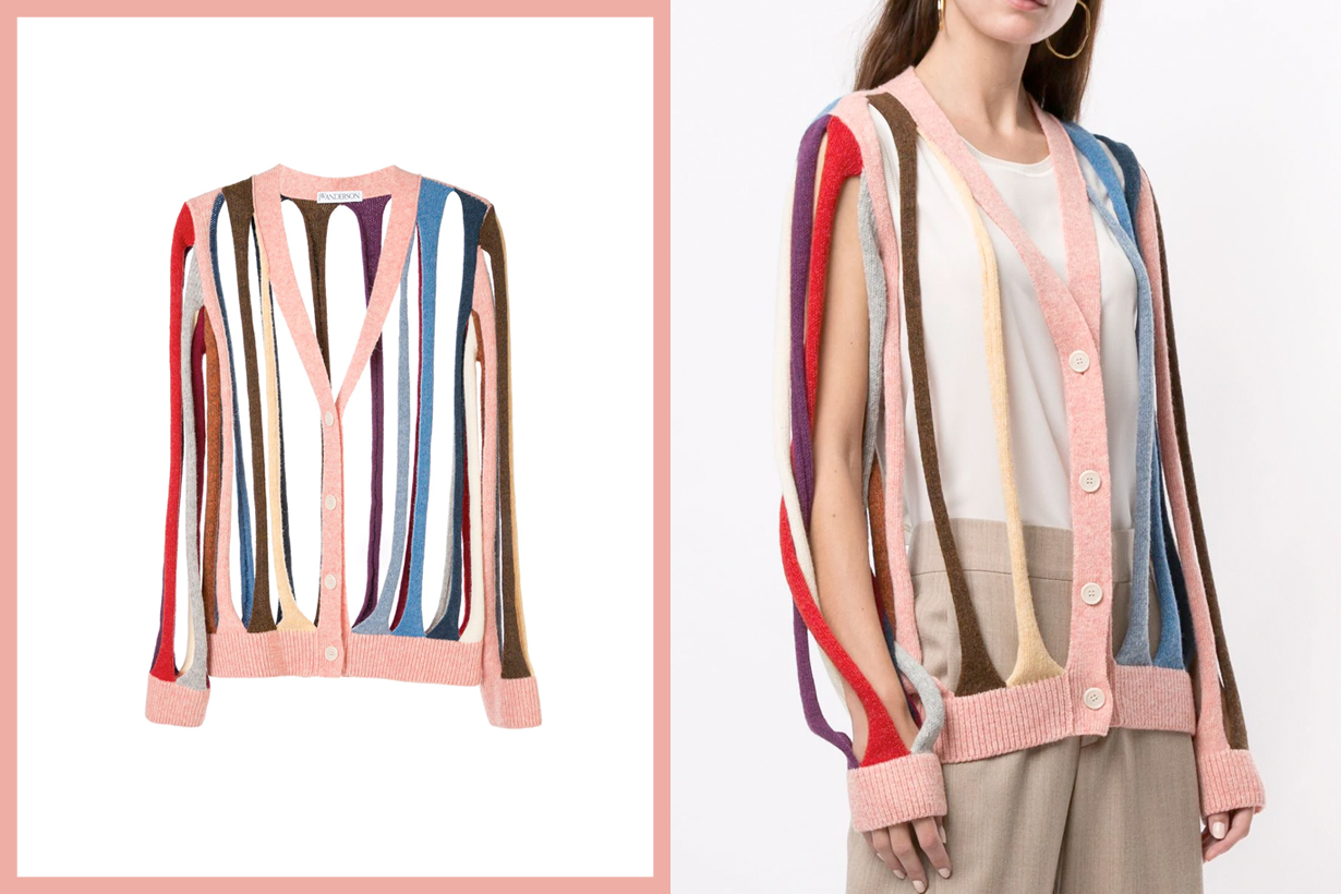 JW Anderson ss20 cardigan cut out design