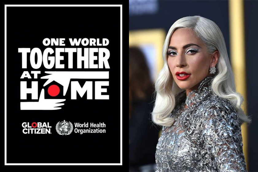 lady gaga ONE WORLD TOGETHER AT HOME concert Billie Eilish Sam Smith Eason Chan Jacky Cheung Lizzo