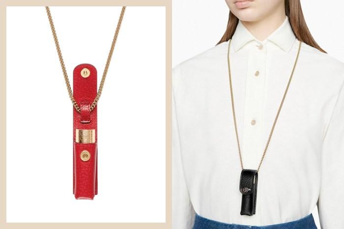 Gucci 推出新款金屬鏈包,迷你的尺寸完全是為口紅量身設計!