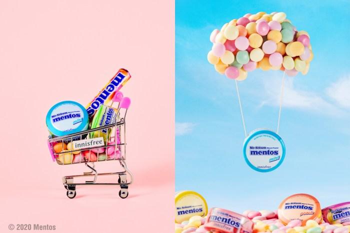 Innisfree x Mentos 推出限定包裝,將長佔 Top 1 的礦物控油蜜粉添加了水果口味!