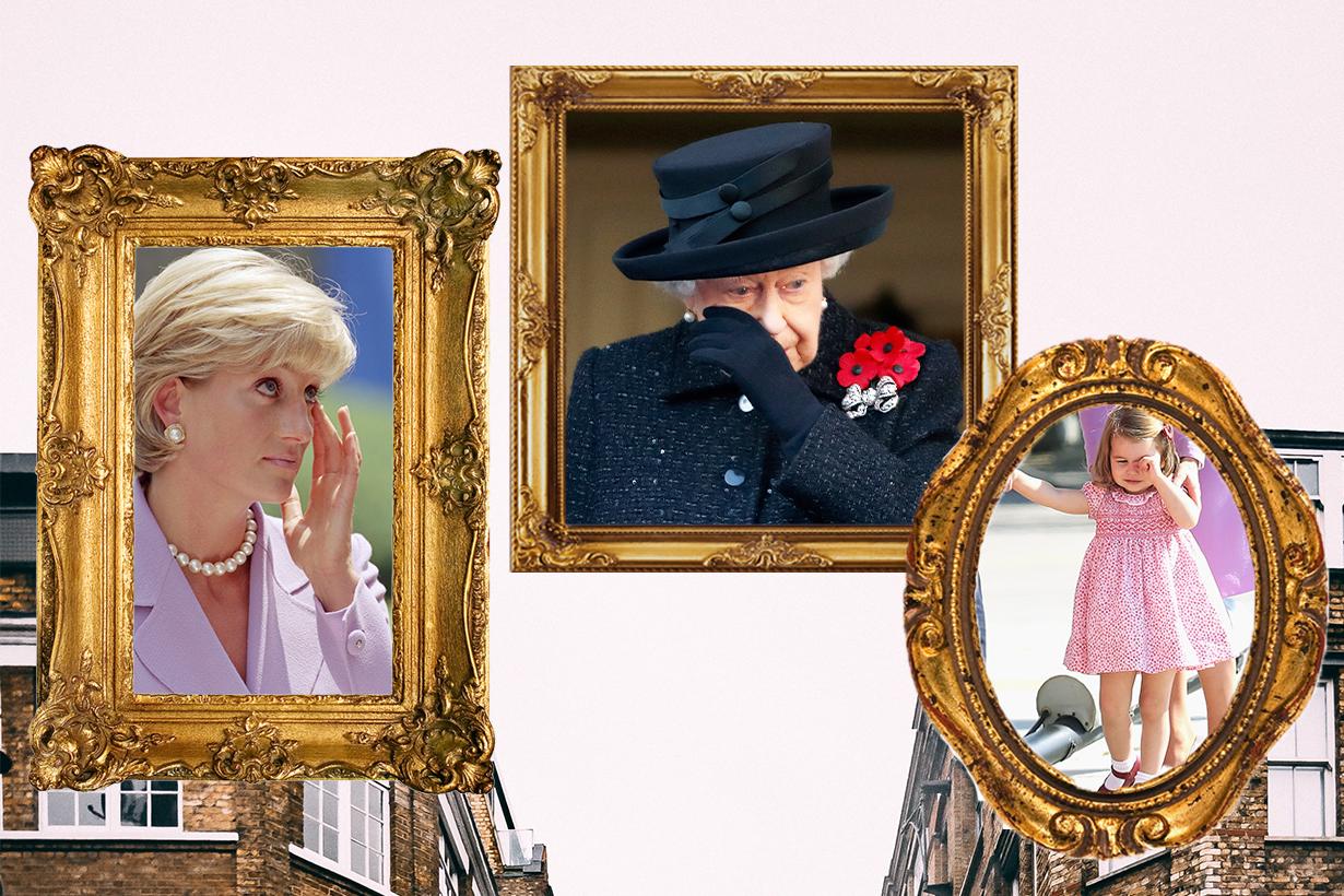 Queen Elizabeth II Princess Diana Kate Middleton Princess Charlotte Prince Harry Meghan Markle Tear Crying British Royal Family