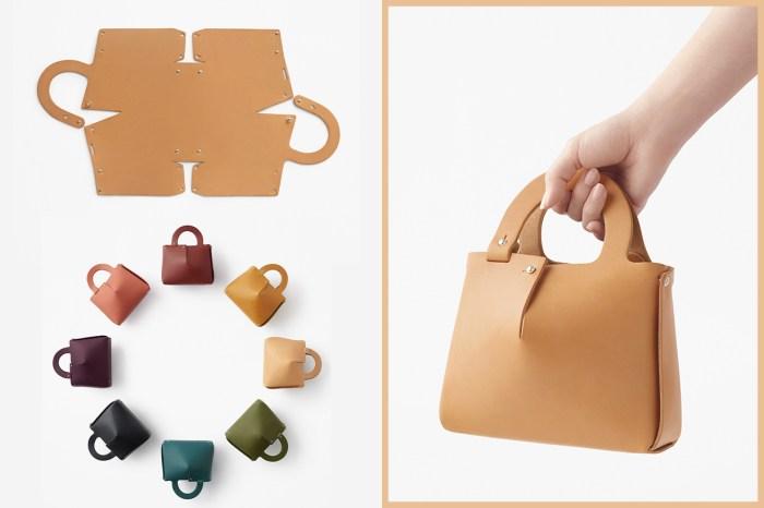 攤開是一塊完整無缺的皮革!日本工作室 Nendo 設計出極簡手袋讓顧客自行組裝