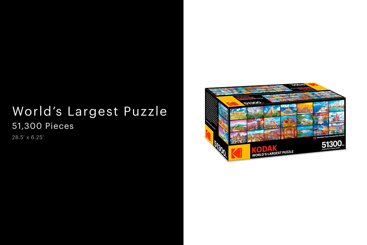 kodak world's largest puzzle stay home giant