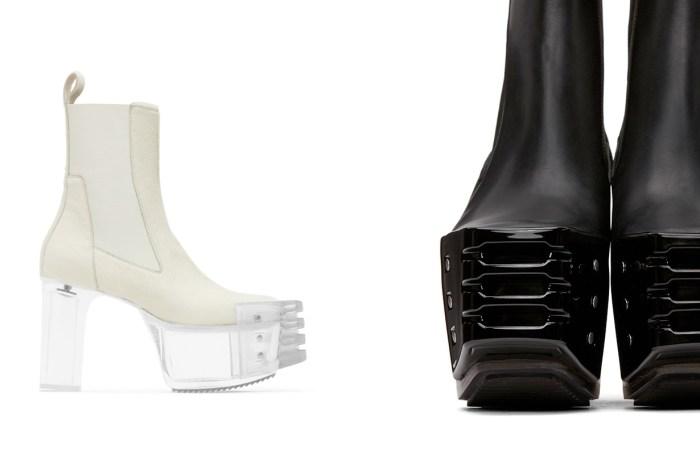秉持著無性別的血脈:Rick Owens 將 Chelsea Boots 搭上透明鞋跟,簡單也能充滿性格!
