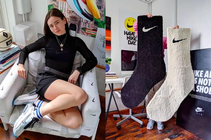 巨型 Nike 襪子地毯太萌!還未確定販售,已讓 Swoosh 粉都忍不住留言喊 +1