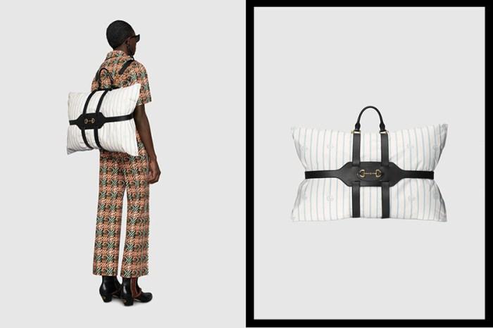 懶人的終極奢侈:Gucci 枕頭包正式上架,令人好奇的售價終於公開!