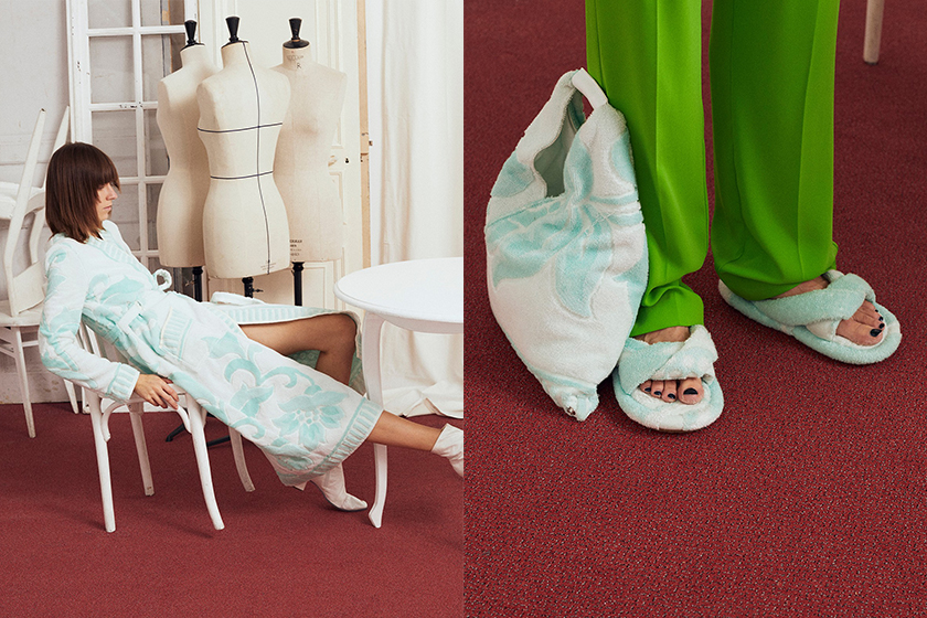 mm6 maison margiela Terry towel bag slippers release