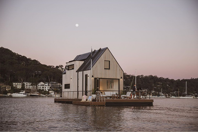 lilypad floating villa chuck Anderson palm beach Sydney getaway airbnb