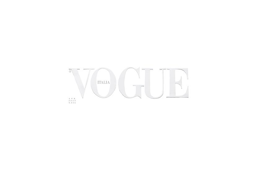 vogue italia blank white cover April issue coronavirus covid-19