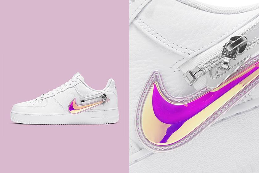 nike air force 1 07 premium zip swoosh pack sneakers customizable release