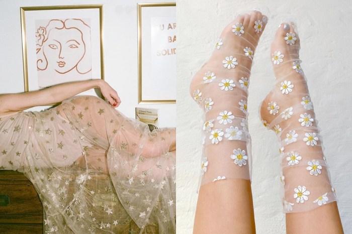 把童話世界穿腳上:將薄紗繡上可愛圖樣,這個小眾品牌光用襪子就讓人充滿少女心!