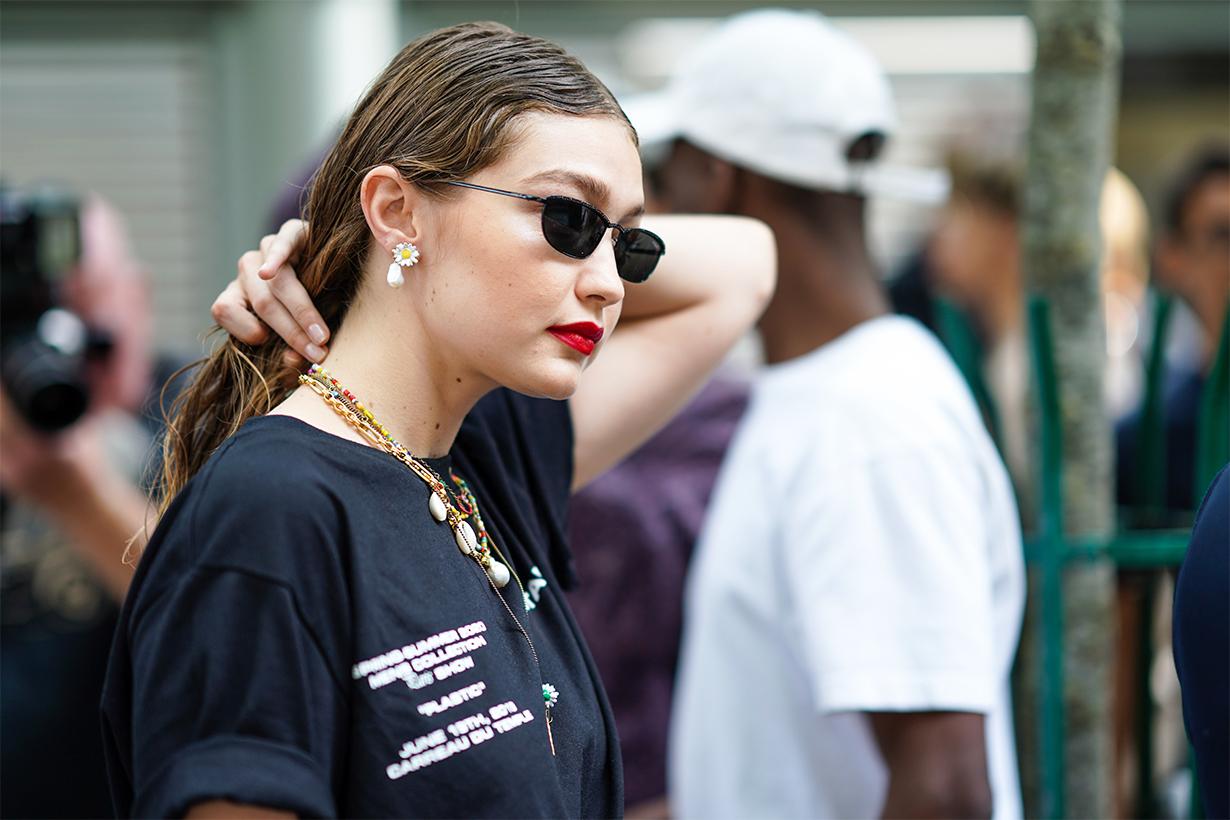 Models off duty look street style street snaps fashion style trend 2020 spring summer Gigi Hadid Bella Hadid Kendall Jenner Grace Elizabeth Emily Ratajkowski