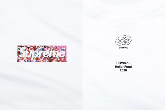 Supreme x 村上隆攜手經典 Logo Tee:以名作《花與骷髏》呼應生死,所得全捐出幫助 COVID-19!
