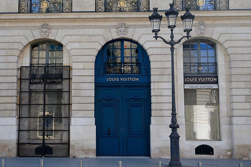 lvmh Louis Vuitton 10 20 percent revenue drop coronavirus pandemic