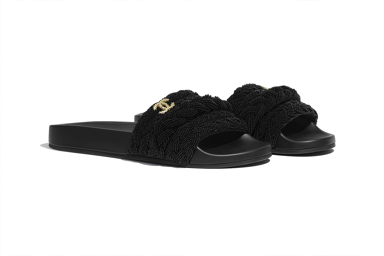 chanel mules pearls lambskin slides release shoes