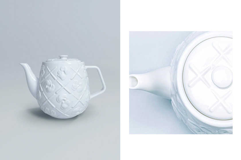 kaws allrightsreserved collaboration xx monogram teapot white homeware release date