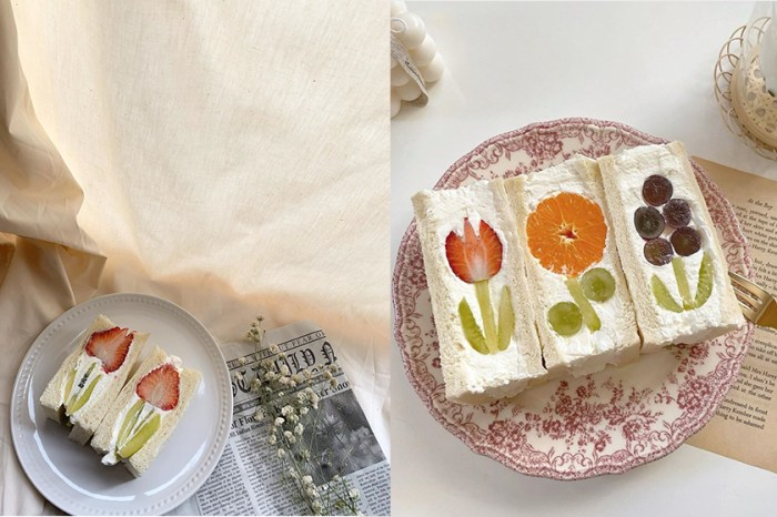 400 次咖啡後:日本女生正風靡,在家動手做「水果花三明治」!