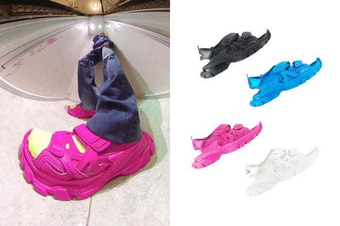 今季老爹涼鞋不能少了這一雙:改造 Track 波鞋,Balenciaga 的魔術貼涼鞋正式登場!