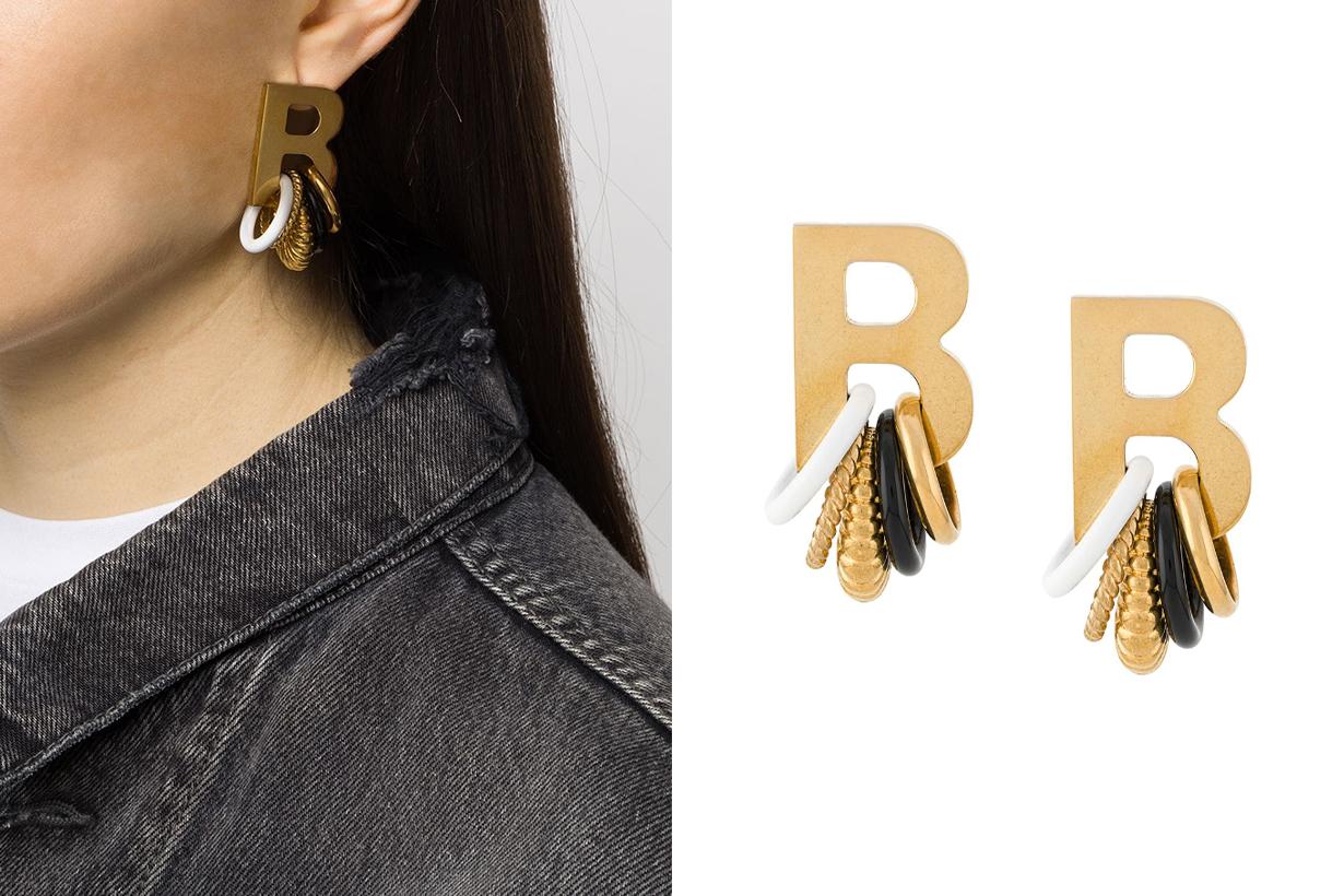 Balenciaga earrings XL size earrings jewelry trends 2020 summer