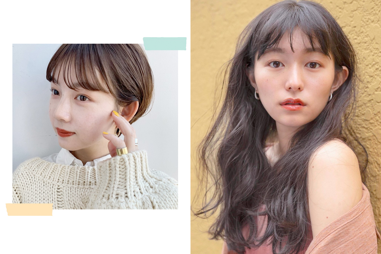 japanese bangs hairstyle reference summer style