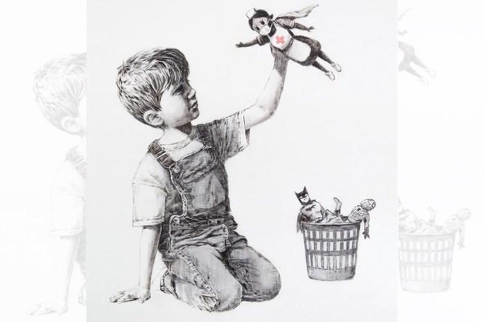 Banksy 最新畫作向醫護人員致敬,更私下附上暖心的訊息!