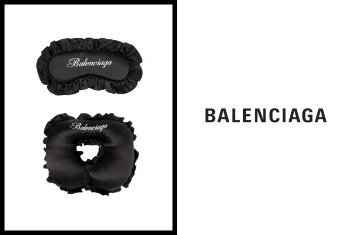 最時髦的睡眠配飾,Balenciaga 推出全黑奢華的絲質眼罩&頸枕!