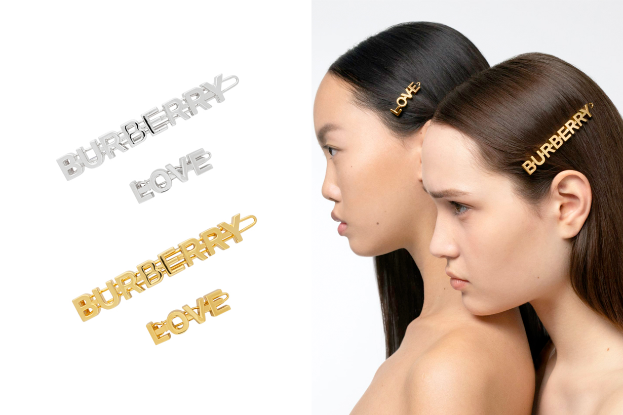burberry hair clip accessory love logo 2020 summer