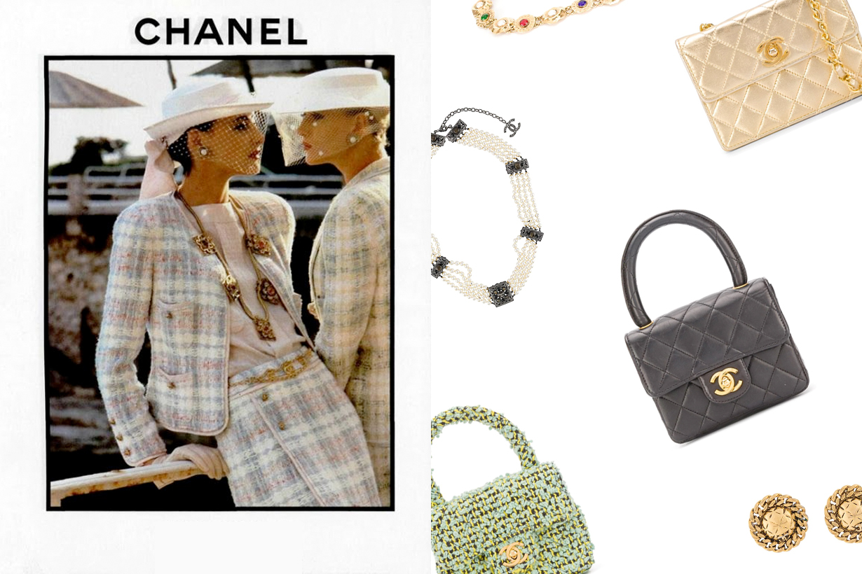 chanel farfetch 90s vintage handbags jewelry clothes rewind london