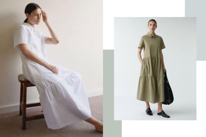 一套上身就可出門!COS 連身裙 15+,簡約又舒適的風格誰能抗拒?