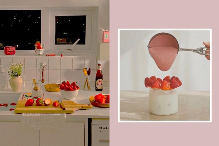 女生間正風靡的 400 次草莓,超簡單就能在家做出這杯夢幻飲品!